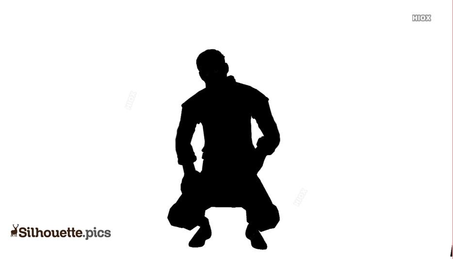 Squatting Dance Silhouette