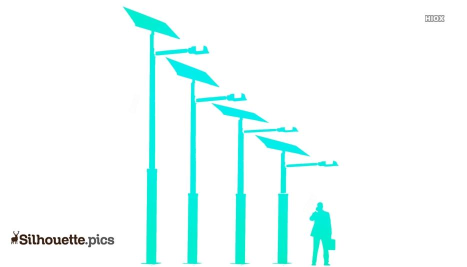Standard Solar Lighting Pole Silhouette