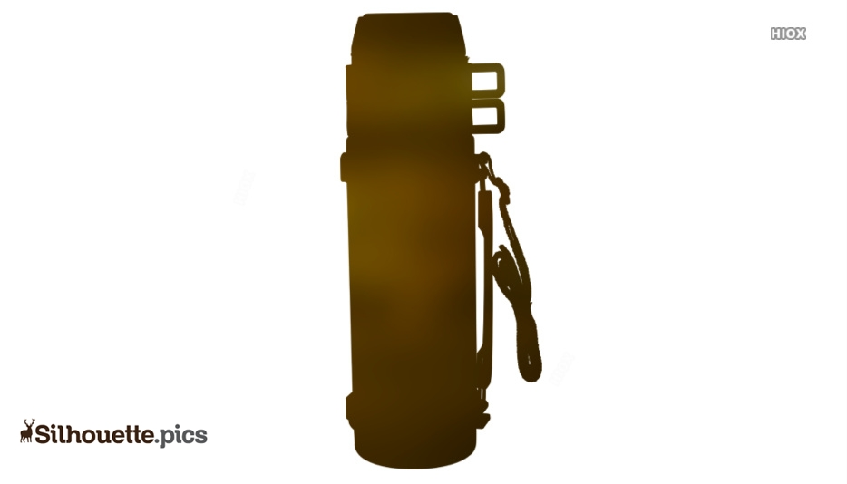 Steel Flask Silhouette Clipart