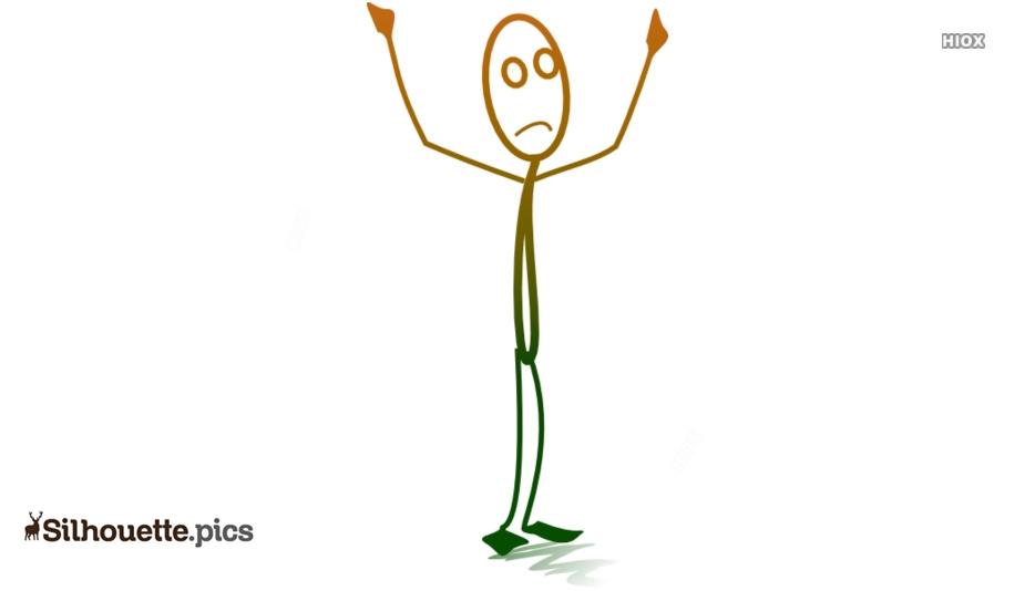 Stick Man Sad Cartoon