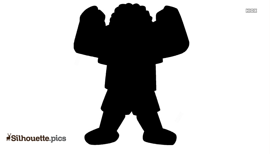 Strong Cartoon Kid Silhouette