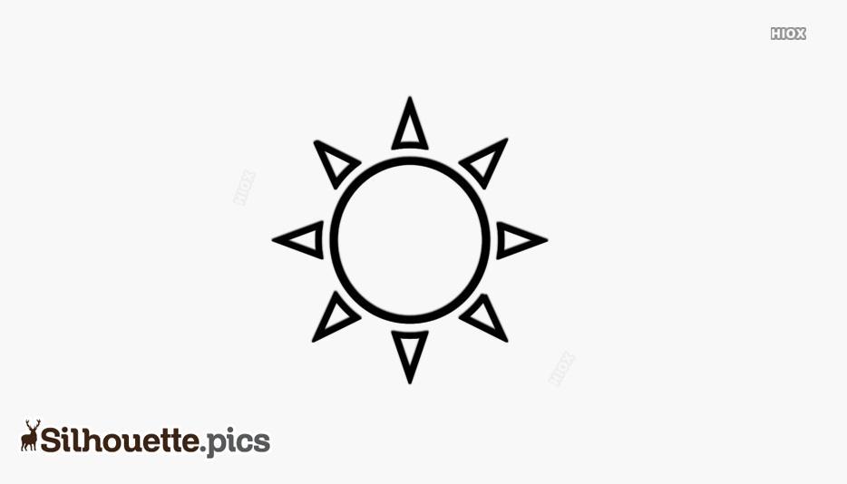 Sun Silhouette Clipart Vector Image