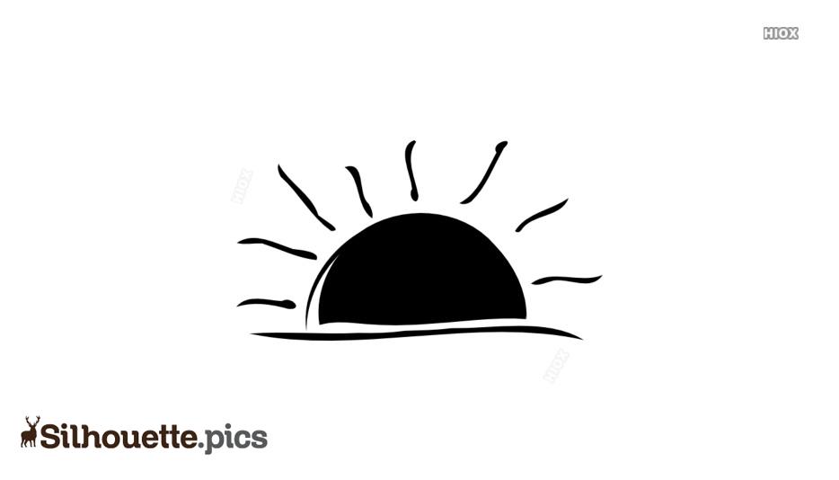 Sun Vector Silhouette