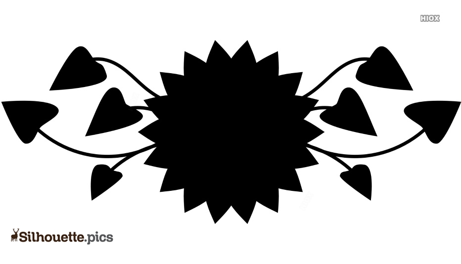 Sunflower Border Clipart Silhouette Vector