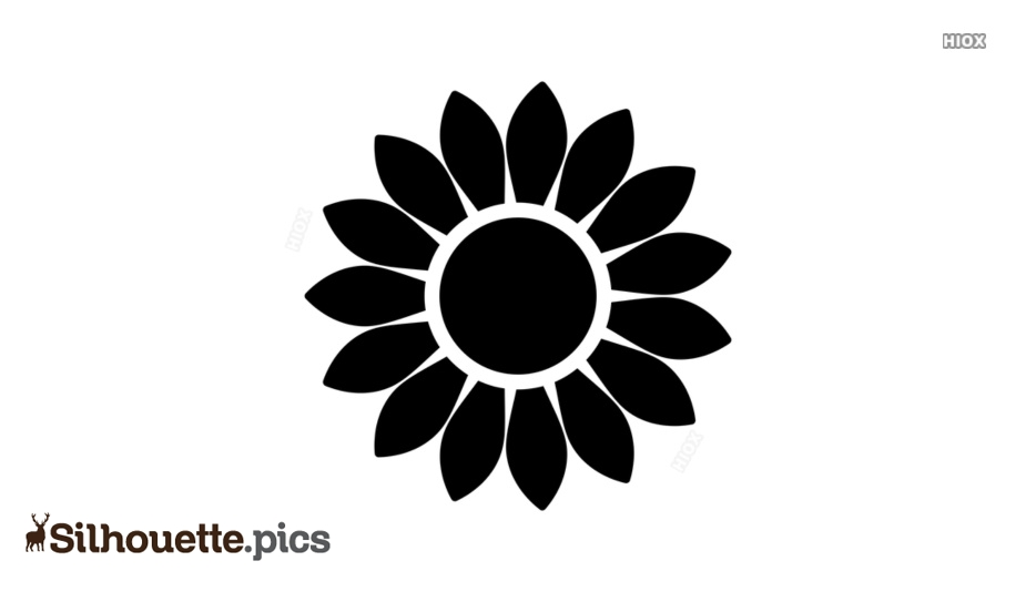 Sunflower Head Clipart Silhouette