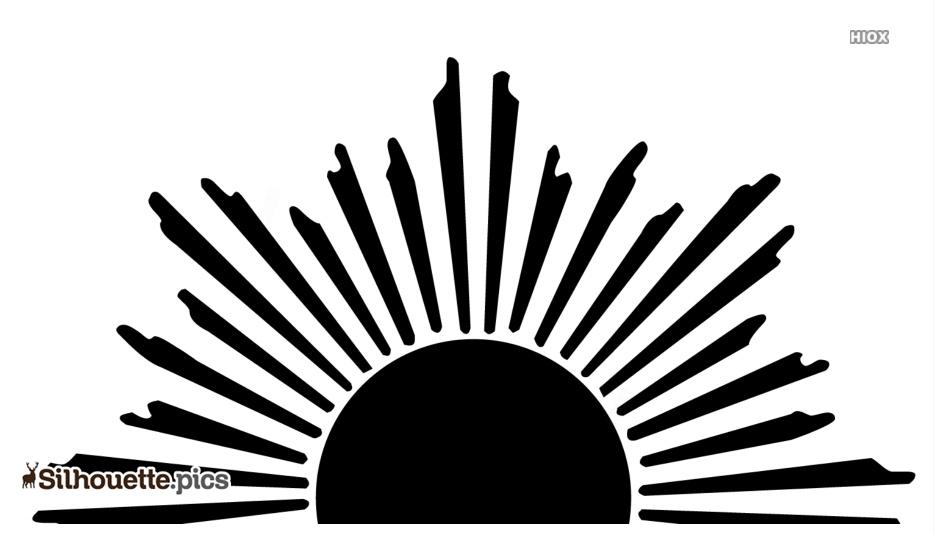 Sunrise Silhouette Clip Art