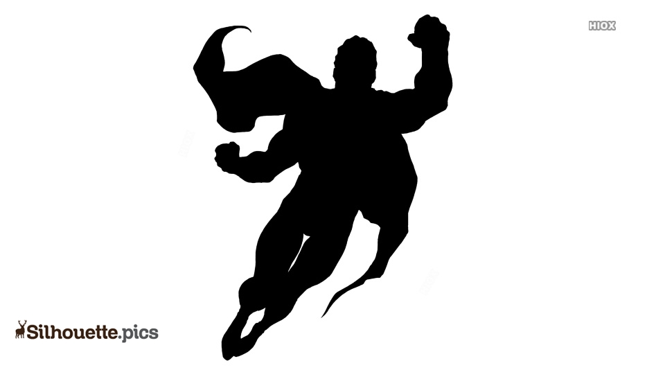 Flying Superhero Vectors, Silhouette Images