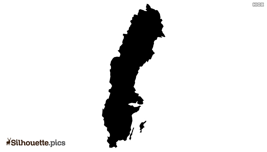 Sweden Map Silhouette Art