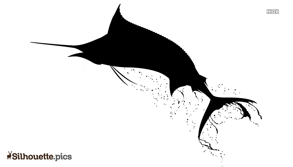 Swordfish Art Silhouette Vector And Graphics