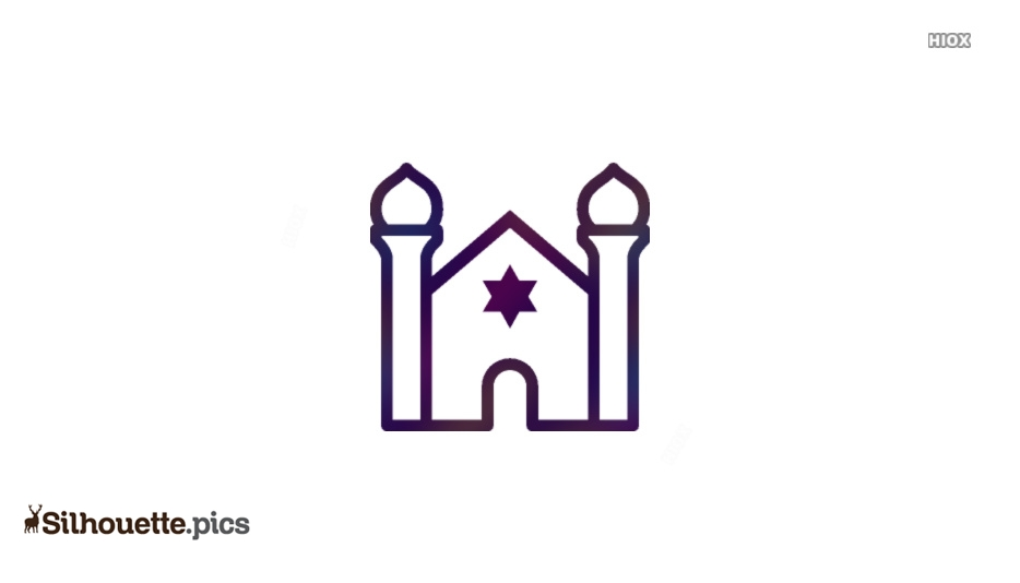Synagogue Outline Icon Silhouette