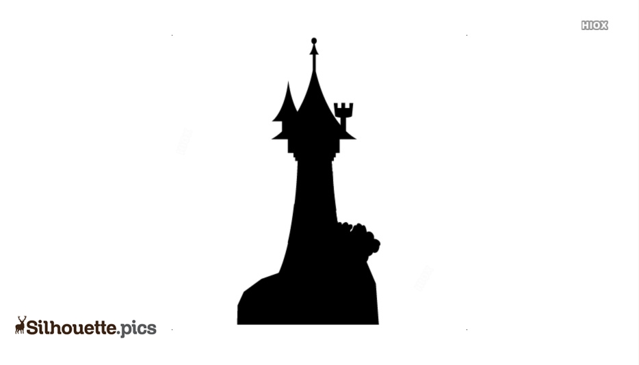 Tangled Princess Tower Silhouette Vector Clipart Images Pictures