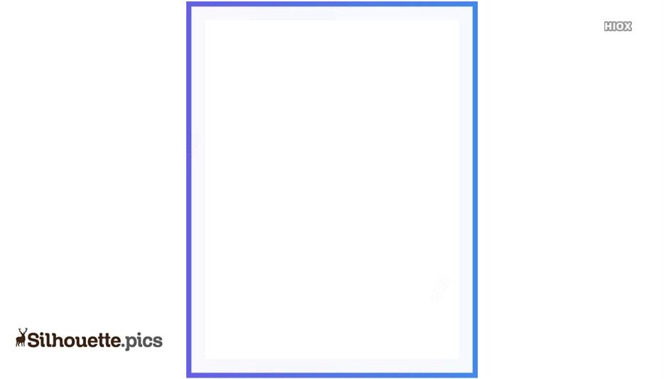 Thin Border Frame Clipart Silhouette