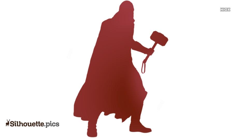 Thor Marvel Silhouette Free Vector Art