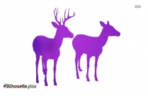Deer Antler Silhouette Illustration