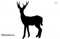 3 Horned Deer Silhouette Free Vector Art