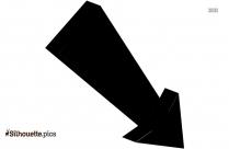 Black Arrow Pointing Down Silhouette Icon