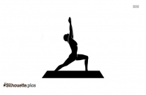 Yoga Pose For Beginners Silhouette Vector Art