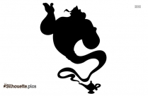 Cartoon Peter Pan Flying Silhouette