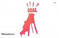 Achieve A Goal Clipart, Silhouette