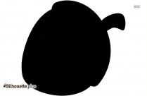 Acorn Nut Silhouette Illustration