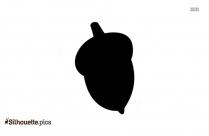 Free Cartoon Nut Silhouette,acron Clipart