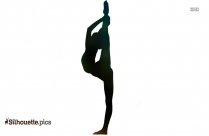 Black And White Acro Dance Silhouette Vector
