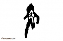 Fictional Superhero Dragon Ball Vector Silhouette Image