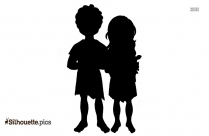 Adam And Eve Silhouette Free Vector Art