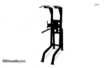 Powerline Vertical Knee Raise And Dip Station Fitness Silhouette