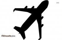 Cartoon Fly Clipart || Cartoon Girl On Airplane Silhouette