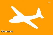 Cartoon Airplane Silhouette Illustration