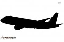 Aeroplane Silhouette Line Drawing