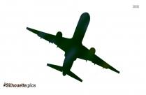 Aeroplane Silhouette Clipart Image