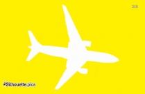 Black Cartoon Airplane Silhouette Image