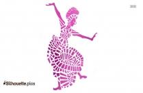 Balinese Dance Vector Silhouette