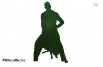 Happy Dance Silhouette Vector