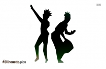 African Dancer Clipart | African Drum Silhouette