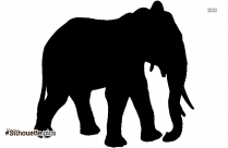 Elephant Cute Cartoon Baby Silhouette