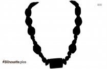 African Ethnic Jewelry Silhouette Clipart