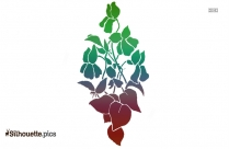 African Flower Drawing Clipart Silhouette