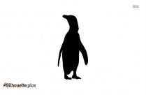 African Penguin Vector Silhouette Image