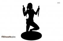 Agent 47 Girl Vector Art Silhouette