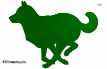 Afghan Hound Dog Breed Vector Silhouette Image
