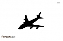 Airplane Landing And Takeoff Silhouette