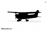 Black And White Airplane With Banner Silhouette