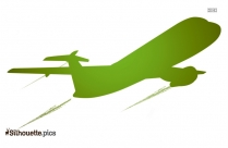 Passenger Airplane Silhouette Illustration