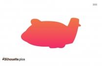 Airplane Emoji Silhouette Drawing