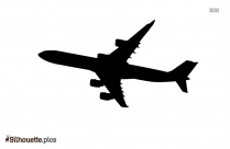 Aircraft Silhouette Clipart Image
