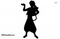 Black Hermione Silhouette Image