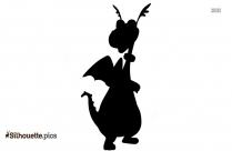 Free Cartoon Circus Giraffe Silhouette Image